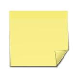 Nota de post-it amarilla Fotos de archivo