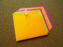 Nota de post-it colorida Imagen de archivo