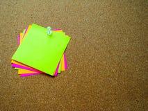 Nota de post-it colorida Imagen de archivo libre de regalías
