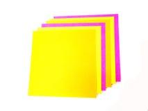 Nota de post-it colorida Imágenes de archivo libres de regalías