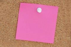 Nota de post-it cor-de-rosa Imagens de Stock