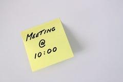 nota de post-it de la reunión Fotografía de archivo libre de regalías