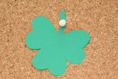 Nota de post-it do Shamrock Foto de Stock Royalty Free