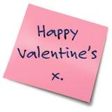 Nota de post-it dos Valentim Imagem de Stock