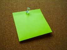 Nota de post-it verde Fotografía de archivo