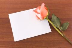 Nota de Rosa Foto de Stock