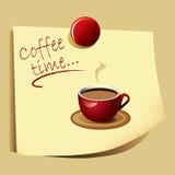 Nota de tiempo del café - vector del EPS Foto de archivo
