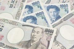Nota de 10000 yenes japoneses Imagen de archivo libre de regalías