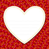 Nota del amor Foto de archivo