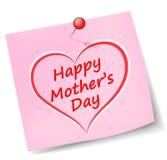 Nota del día de madres del vector stock de ilustración