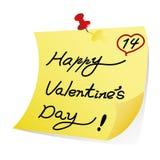 Nota del día de tarjetas del día de San Valentín Fotos de archivo libres de regalías