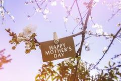 Nota del día del ` s de la madre Imagenes de archivo
