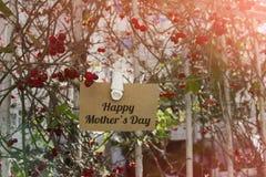 Nota del día del ` s de la madre Fotos de archivo