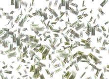 Nota del dollaro che cade Immagini Stock Libere da Diritti