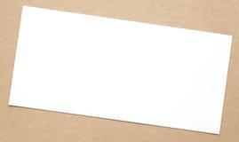 Nota del Libro Bianco Fotografia Stock