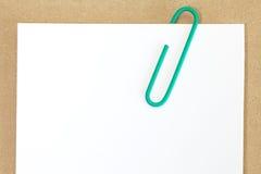 Nota del Libro Blanco imágenes de archivo libres de regalías
