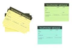 Nota del mensaje telefónico Foto de archivo