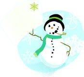 Nota del muñeco de nieve Imagen de archivo libre de regalías