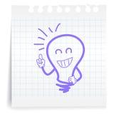 Gran idea en la nota de papel Imágenes de archivo libres de regalías