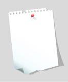 Nota del papel en blanco Fotos de archivo