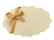 Nota del papel en blanco Fotos de archivo libres de regalías
