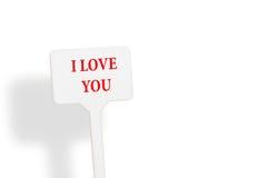 Nota del recordatorio con el día del ` s de la tarjeta del día de San Valentín Imágenes de archivo libres de regalías