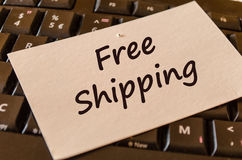 Nota del texto del envío gratis Fotos de archivo libres de regalías