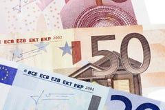 Nota dell'euro cinquanta Immagini Stock Libere da Diritti