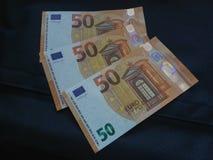 nota dell'euro 50, Unione Europea Immagine Stock Libera da Diritti