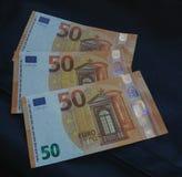 nota dell'euro 50, Unione Europea Fotografie Stock Libere da Diritti