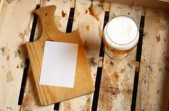 Nota della birra Immagini Stock