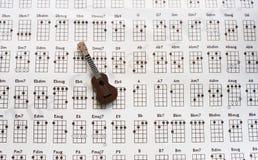 Nota della chitarra Fotografie Stock