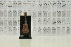Nota della chitarra Fotografia Stock