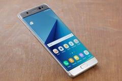 Nota 7 della galassia di Samsung fotografia stock libera da diritti