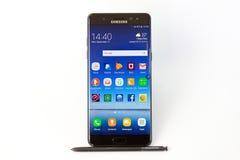 Nota 7 della galassia di Samsung fotografie stock