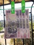 Nota della rupia indiana Fotografia Stock Libera da Diritti