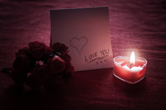 Nota di amore Immagine Stock Libera da Diritti