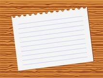 Nota di carta Fotografia Stock Libera da Diritti