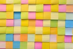 Nota di colore di carta Fotografia Stock Libera da Diritti