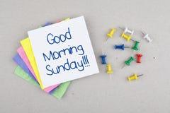 Nota di domenica di buongiorno Fotografia Stock