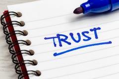 Nota di fiducia immagini stock libere da diritti
