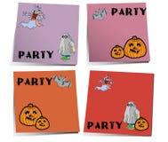Nota di Halloween Fotografia Stock