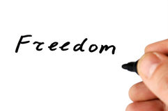 Nota di libertà fotografia stock