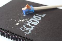 Nota di libro della scuola Fotografia Stock Libera da Diritti