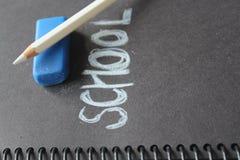 Nota di libro della scuola Fotografie Stock Libere da Diritti