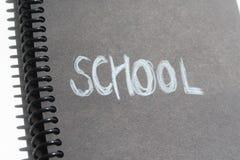 Nota di libro della scuola Fotografia Stock