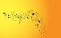 Nota di musica Immagine Stock Libera da Diritti