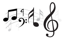 Nota di musica illustrazione di stock
