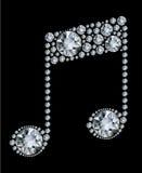 Nota di musica del diamante Immagine Stock Libera da Diritti