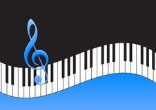 Nota di musica e tastiera di piano Immagine Stock